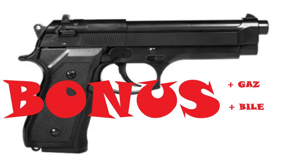 Pistol Airsoft Beretta GG-104+1100 Bile+Gaz - BONUS