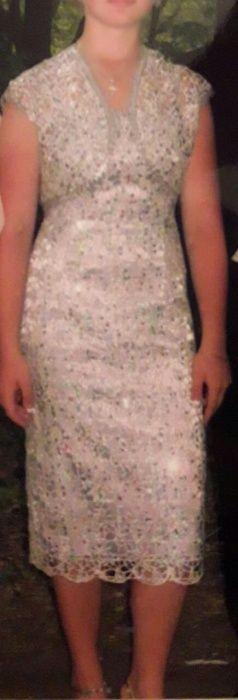 Платье серебро