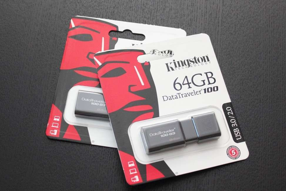 Stick Memorie 64gb Kingston DataTraveler 100 G3 USB 3.0 3.1 Sigilat