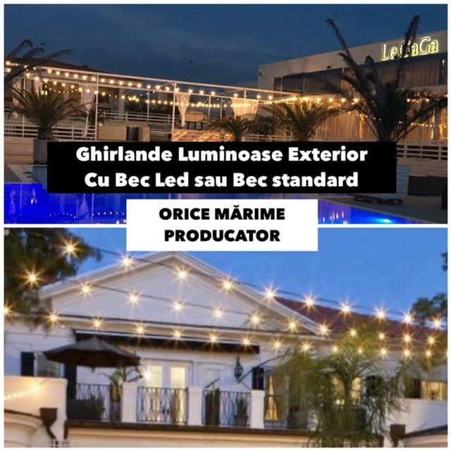 Fabrica Ghirlande Luminoase,Exterior,Orice Marime,Bec Led/Incandescent