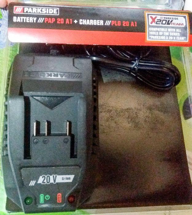 Incarcator acumulator baterie Parkside 20v NOU-2A, 3A, Lidl Florabest