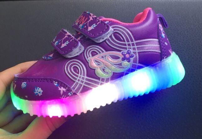 Adidasi cu led-uri / lumini pentru fetite, noi 20->24