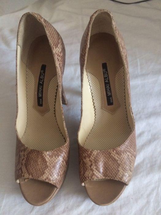 pantofi piele naturala de sarpe