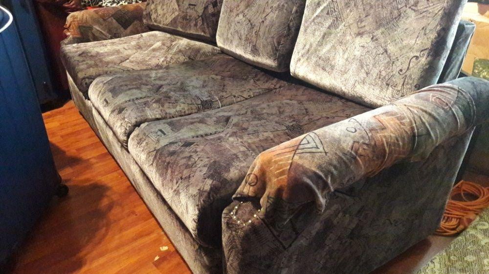 canapea extensibilă cu 2 fotolii