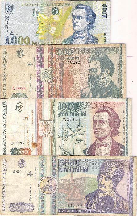 Lot bancnote Romania