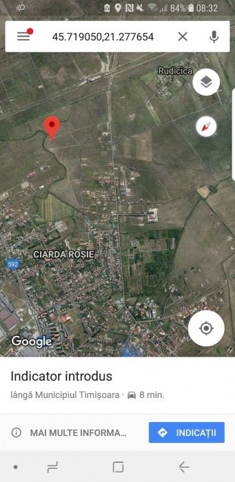 Vand teren Calea urseni/Ciarda rosie