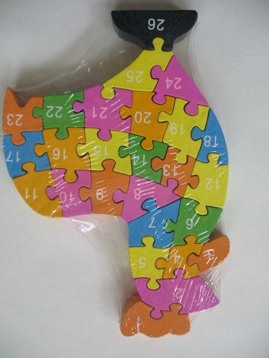 Puzzle lemn pt copii, noi, marca Wooden Toys Naturally