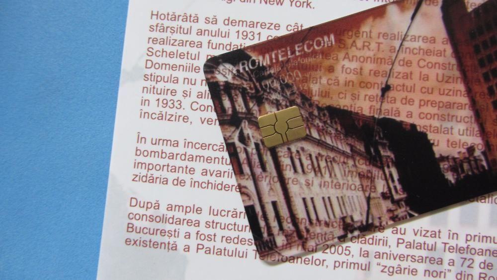 Cartela telefonica Romtelecom COLECTIE Palatul Telefoanelor telefon