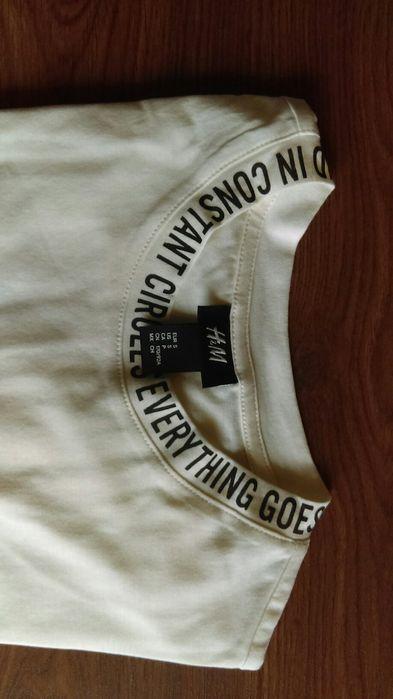 Tricou cu mesaj H&M Edition alb