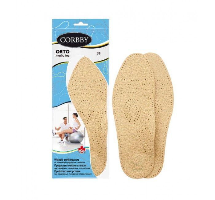 Ортопедические стельки Corbby из натуральный кожи