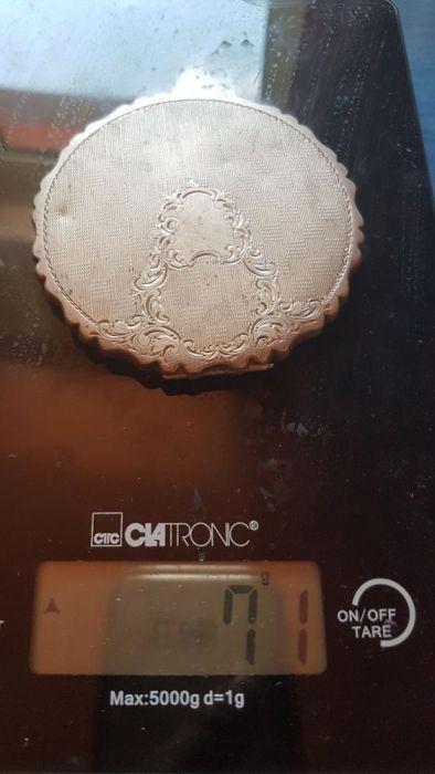 Pudriera dama rokoko argint antic