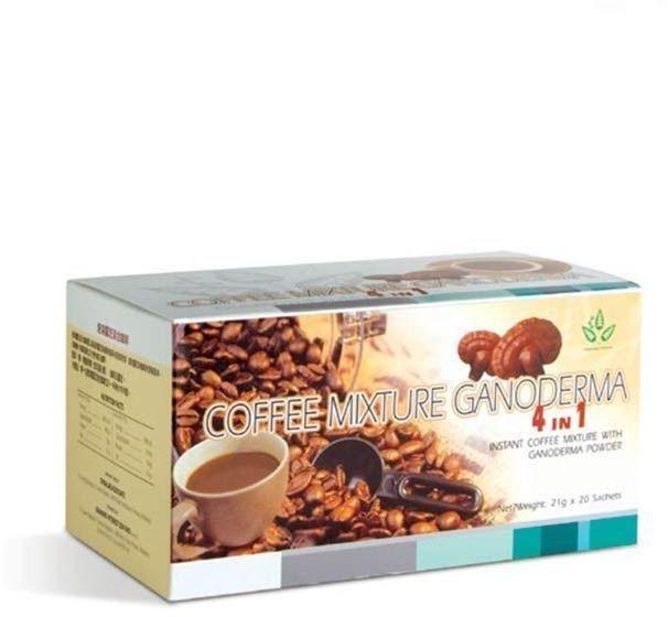 Mistura de Café instant. pó de Ganoderma 4 en 1 Prevenção e Tratamento
