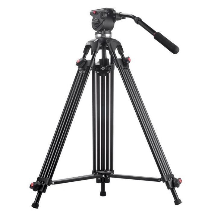 Trepied video ieftin Aluminiu Kti JY0508B + cap video JY0506, 190 cm