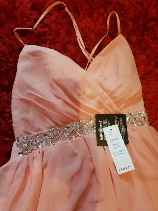Rochie ocazie / crăciun/ revelion roz pal