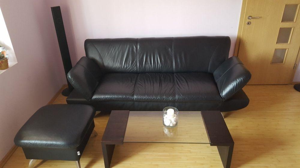Vand canapea si taburete din piele naturala
