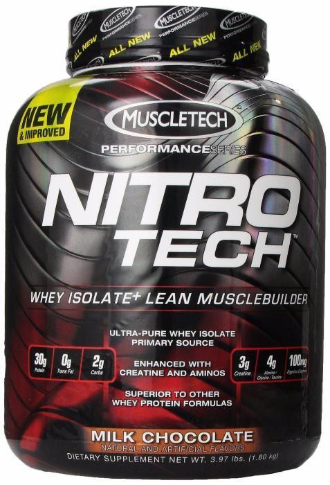 Протеин, изолят, Muscletech Nitro-Tech Performance Series, 1.8 кг