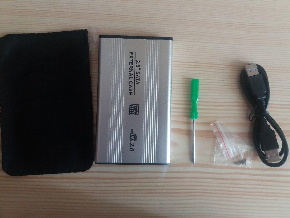 """RACK EXTERN 2.5"""" USB2.0/SATA, Aluminium"""
