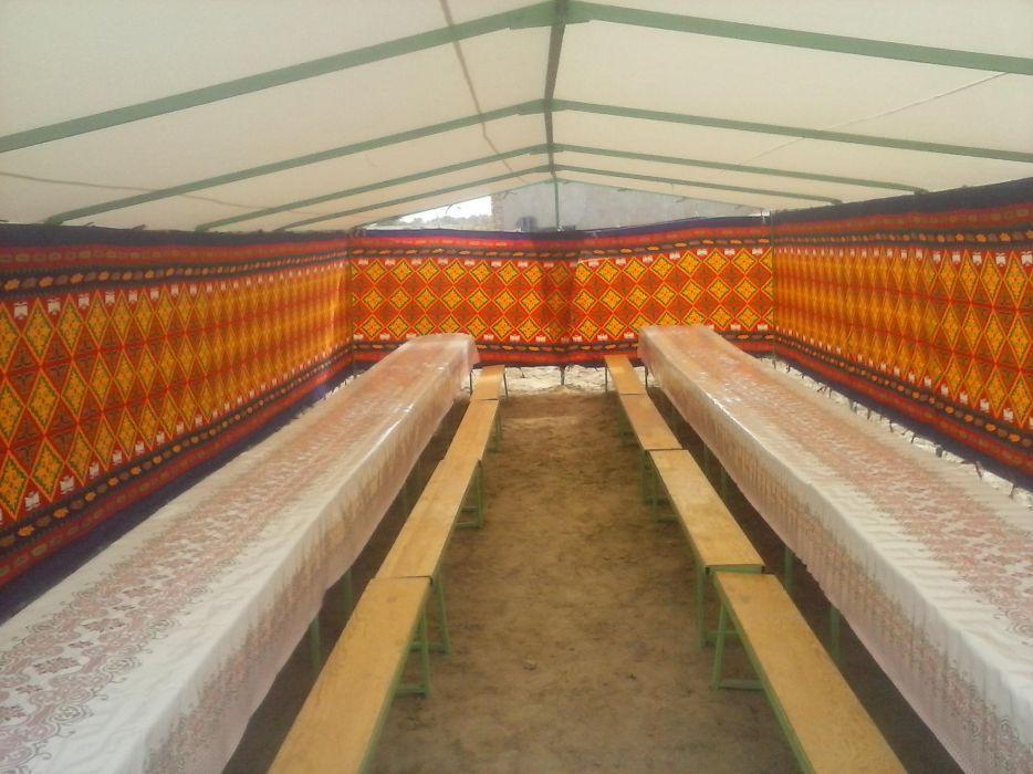 Палатка,казан-ошак,посуда на 100 чел на прокат