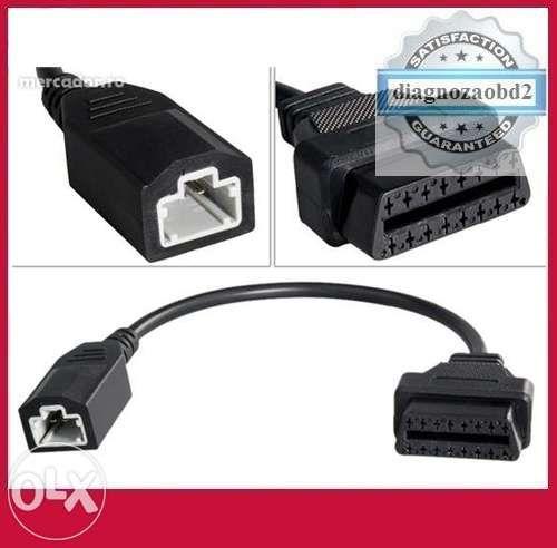 Cablu adaptor tester pentru HONDA de la 3 pini la OBD2 mama