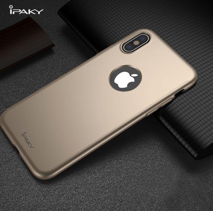 Husa iPaky cu protectie 360º pentru iPhone X AURIE cu folie