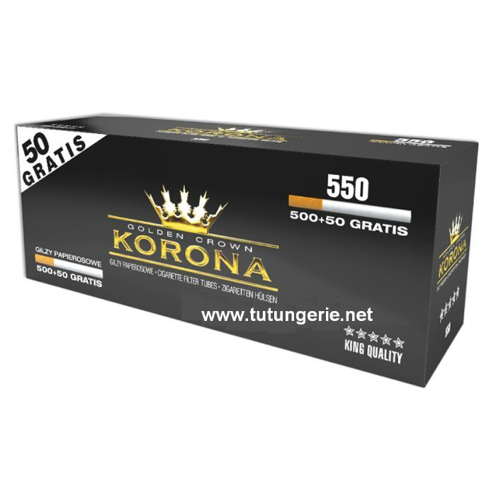 Promo - Tuburi de tigari Korona sau GOLDEN TUBE-2200 buc filtru maro