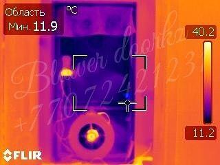 Дом станет теплее!Затраты на отопление снизятся! Тепловизор аэродверь