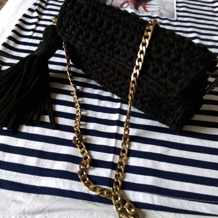 Модная сумка из трикотажной пряжи