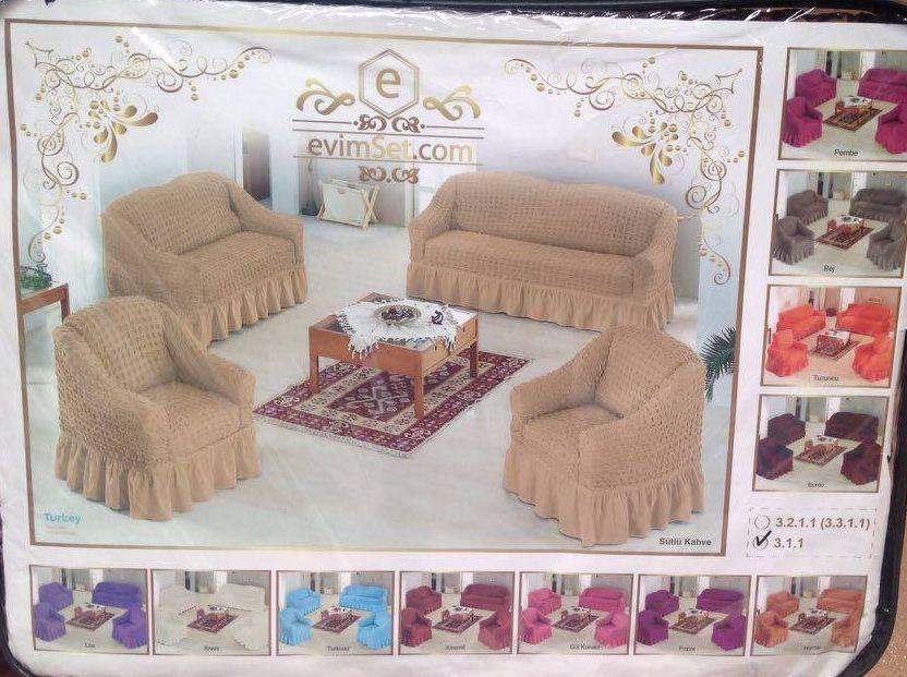 Huse elastice pentru canapea si fotolii 3 1 1