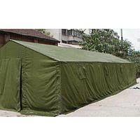 палатка армейская брезентовая 3х10м. военная до 30 чел.