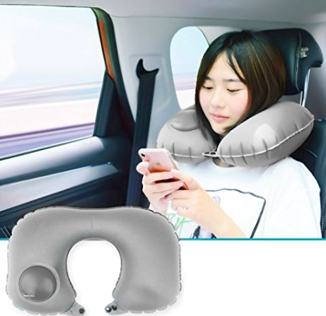 Надувная дорожная подушка для шеи под голову с бесплатной доставкой
