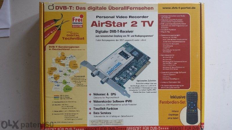 Компютърна платка за цифрова наземна ( ефирна ) телевизия Airstar 2