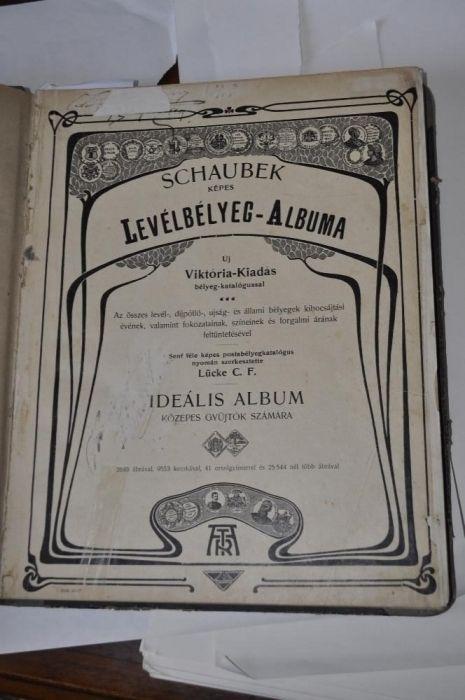 Filatelie - Schaubek képes levélbélyeg-albuma