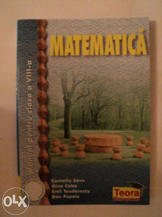 Manual matematica cls a VIII-a