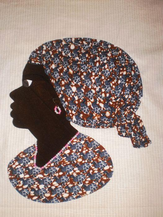 Африканка-картина от текстил върху текстил-варианти гр. София - image 4