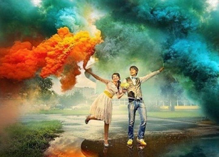 Fum Colorat Fumigene Sedinte Foto declansare inel