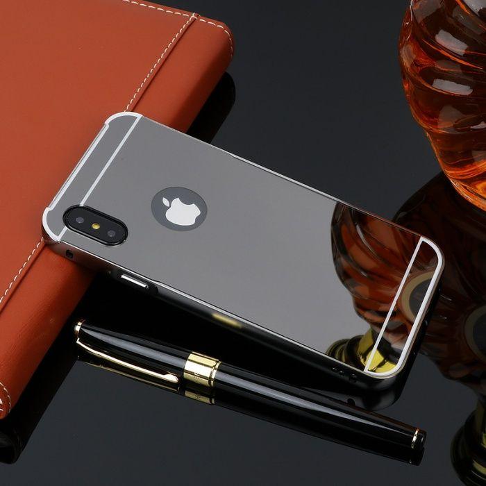 Огледален алуминиев бъмпер кейс калъф за iPhone X