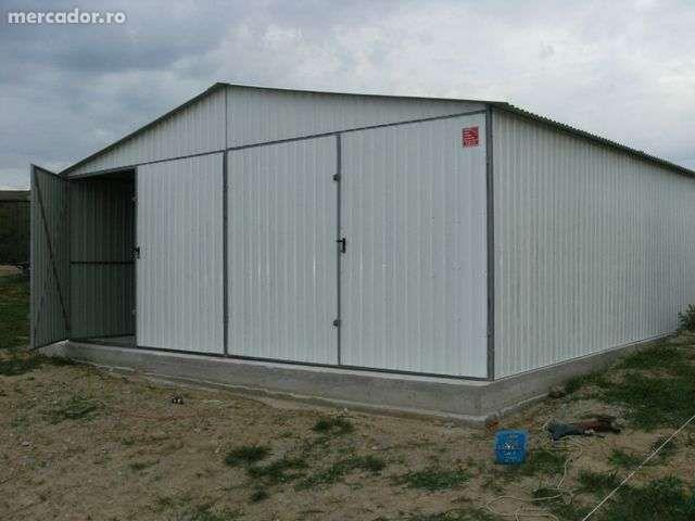 OFERTĂ:Garaj metalic colorat, pentru două maşini, de 6m x 5m