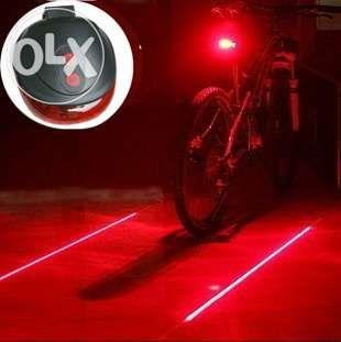 Lampa spate bicicleta cu 2 lasere si 5 LED-uri