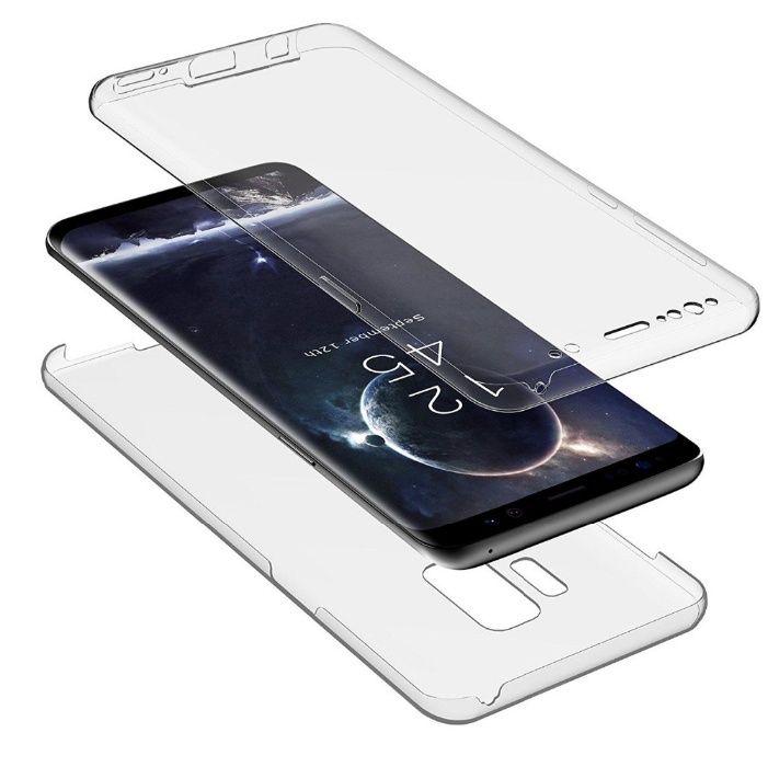 Husa 360 Fata si Spate Din Silicon Transparenta - Samsung A8 2018