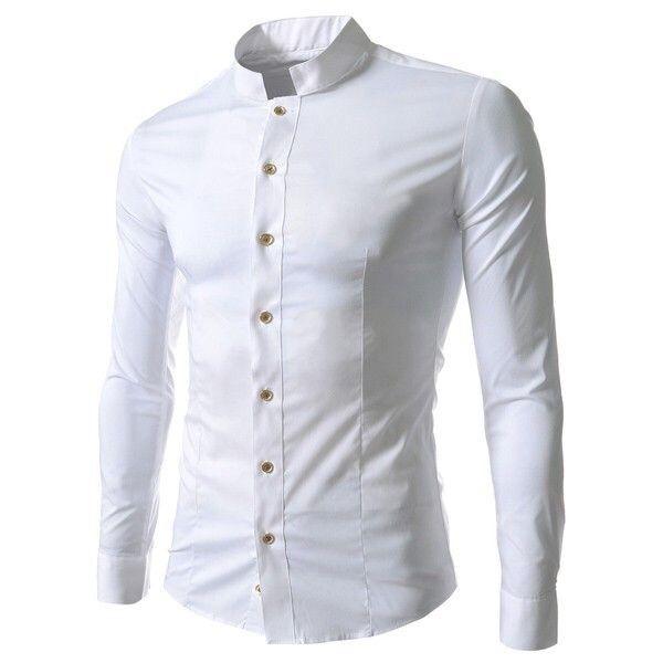 Camisa gola chinesa