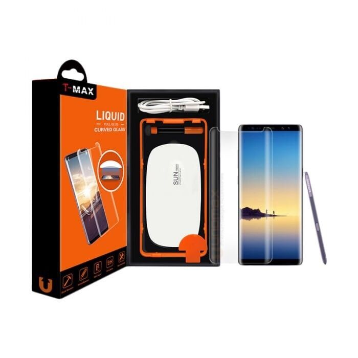 Folie sticla Cu adeziv UV T-MAX Samsung S8 S8 + Plus