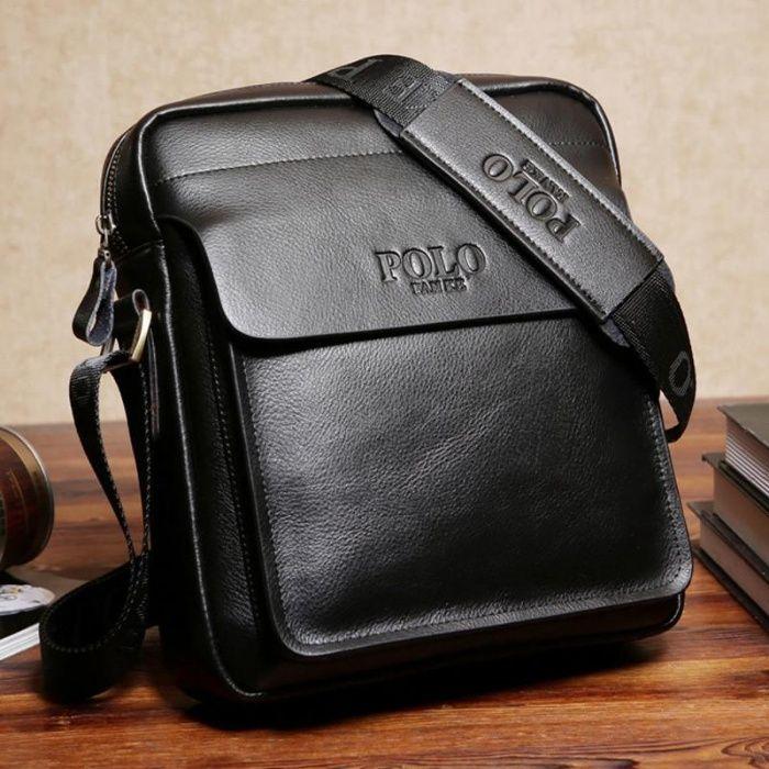 Мъжка чанта POLO Fanke Черна и Бордо