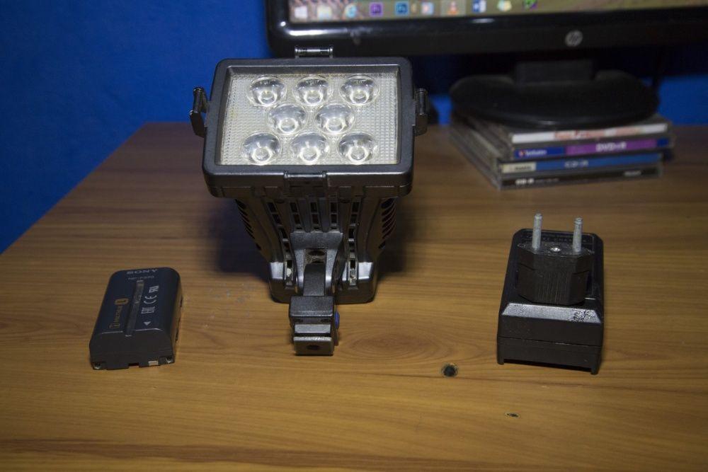 luz de camera de video
