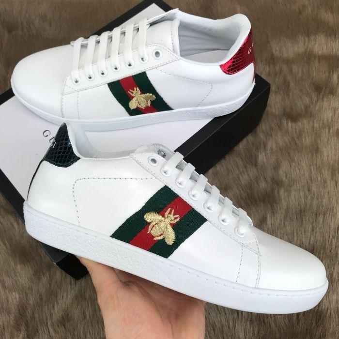 Adidasi Gucci unisex/ mărimi 36-44/piele naturală nu eco,cutie saculet