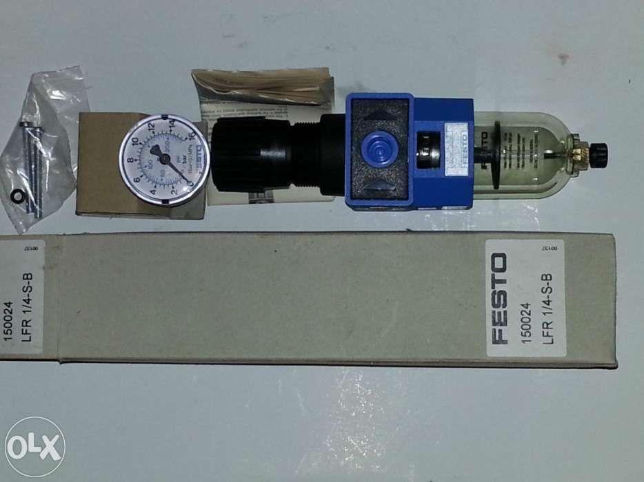 Festo lfr-1/4-s-b 150024 ventil pneumatic + manometru 16 bar