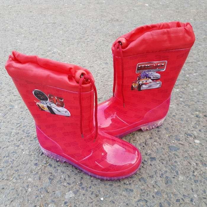 Cizme de cauciuc Wellington Cars rosu imprimate 95 Marimea 32. NOI