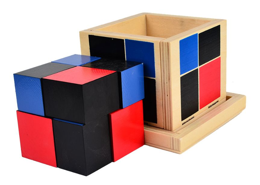 Montessori Binomial Cube Монтесори Биномно Магическо Кубче дървени игр