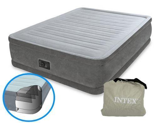 Двуспальная надувная матрас-кровать 152х203х46см с насосом Intex 64414