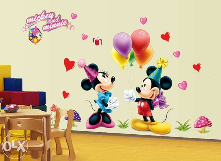 Autocolant mickey minnie mouse sticker decor camera copiilor