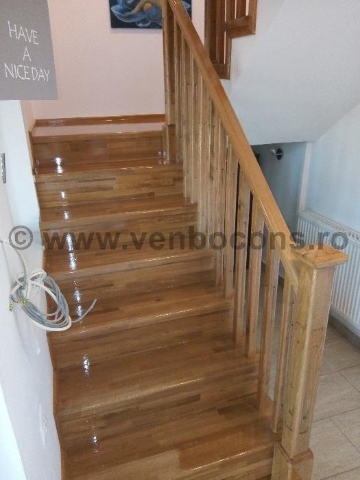 Scari interioare din lemn masiv - scari stejar, scari brad, scari fag